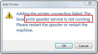 رفع مشکل print spooler service is not running