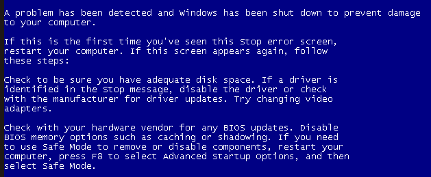 ارور Windows has shutdown to prevent damage blue screen