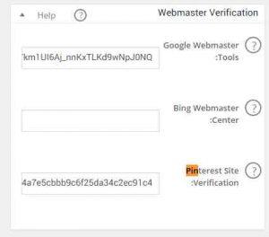 کد تاییدیه پین ترست verification code pintrest