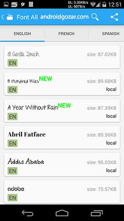 دانلود iFont (Fonts For Android) 5.9.8.2 - تغییر فونت اندروید!