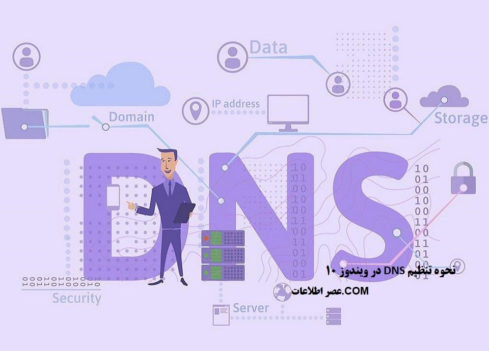 نحوه تنظیم DNS در ویندوز 10