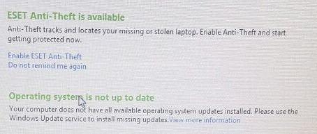 ارور آپدیت ویندوز آنتی ویروس ایست اسمارت 8 Anti Theft